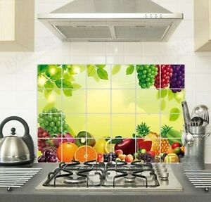 Fruits-Decals-Oil-proof-Stickers-Keep-Clean-Kitchen-Wallpaper-Wall-Sticker-NEW
