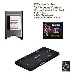 8 gb set f mercedes comand aps ntg 3 4 speicherkarte 8 gb. Black Bedroom Furniture Sets. Home Design Ideas