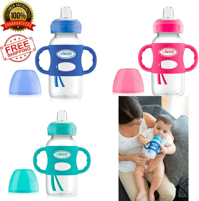 Browns 100/% Silicone Standard-Neck Baby Bottle Handle Blue Dr