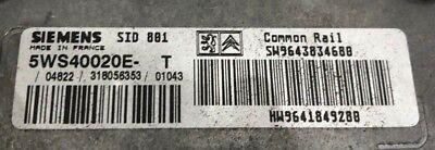 Calculateur décodé 307 XSARA HDI SID 801 5WS40020G-T SW9644895180 HW9641849280