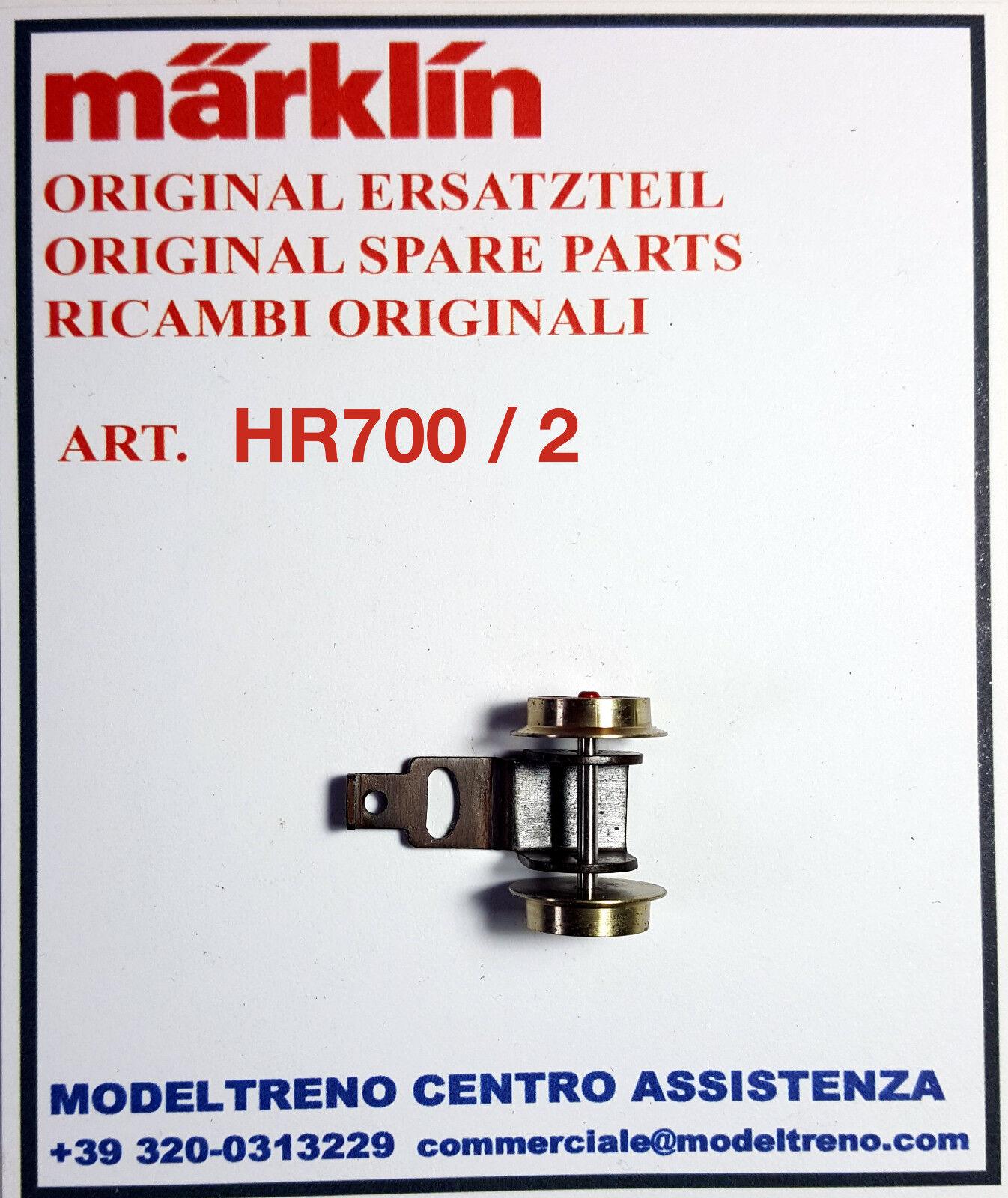 Marklin hr700 2 Cart Post. - nachläufer komplett mit scheibenrädern hr700
