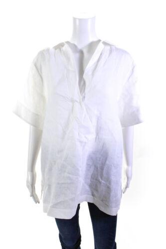 Lafayette 148 New York Women's Top White Collar Bl