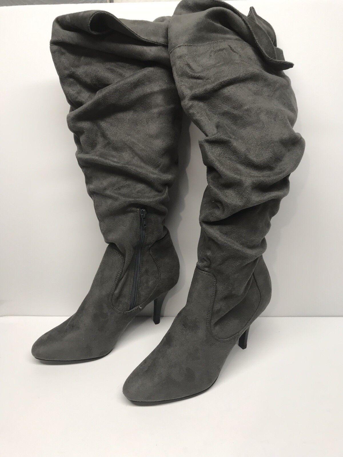 Women's US Size 9 Skechers Knee High Suede Fabric Heel Boots 35968