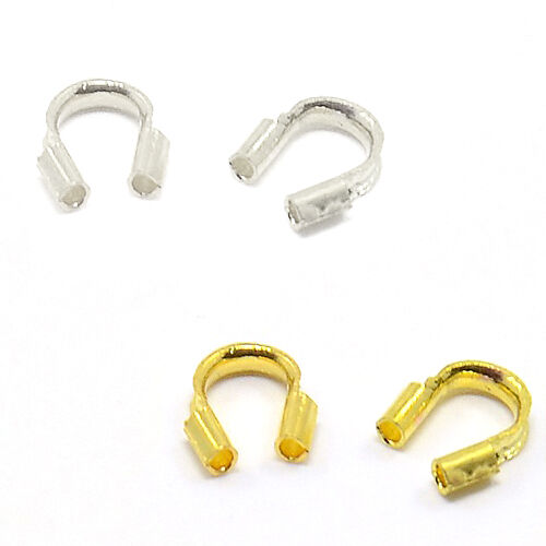 100 Wire Guard Jewelry Findings for Wire up to 0.7mm in a Preformed Horseshoe
