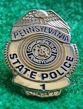 Details about  /New Jersey State Police Mini Badge Mini Shield Lapel Pin NJSP NJ Collectible