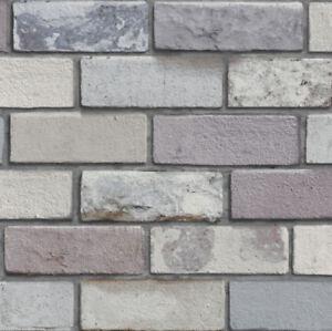 Detalles De Piedra Gris Ladrillo Industrial 3d Pared De Ladrillo Pared Característica Wallpaper Efecto 698800 Ver Título Original