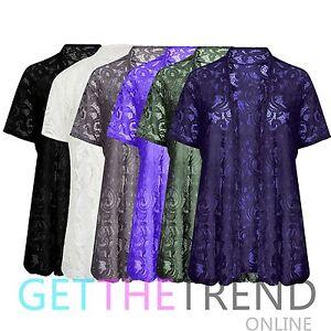 new styles 6bbf8 7abd9 Dettagli su Donna Pizzo Cardigan Donna Larga Taglie Forti Uncinetto Cardi  Kimono Slip On