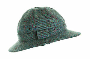 60fb93b1a4e ghillie hat blue check wool tweed for hunting shooting fishing new all ...