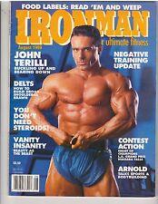 IRONMAN bodybuilding muscle magazine/John Terilli/Arnold/Dennis Newman 8-89