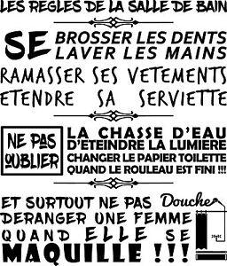 Sticker Texte Les Règles de La Salle de Bain...Iron Man ...
