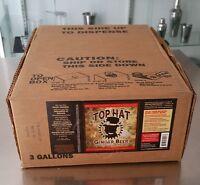 Top Hat Organic Ginger Beer Dispenser Syrup - 3 Gal. Soda Bib - Bag In A Box