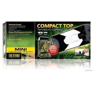 Image is loading Exo-Terra-Compact-Top-Mini-fluorescent-terrarium-canopy-  sc 1 st  eBay & Exo Terra Compact Top Mini fluorescent terrarium canopy 11.8