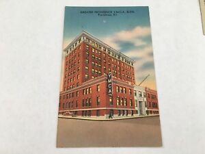 PROVIDENCE-RI-Rhode-Island-YMCA-BUILDING-Linen-Postcard