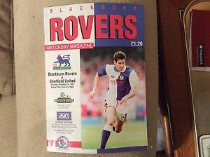 Blackburn-Rovers-v-Sheffield-Utd-1992-93-Programme