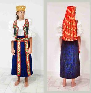 Kalotaszeg Folk Costume 4 pieces 2000 costume/ 1930 hat Transylvanian Hungarian