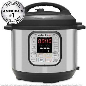 InstaPot, PRESSURE COOKER, Slow Cooker and Warmer, 6 Quart, 7 in 1, Programmable