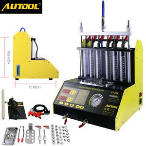 6-cylindre-a-ultrasons-carburant-Nettoyeur-d-039-Injecteur-Testeur-Pour-L-039-Essence-Voiture-Moto