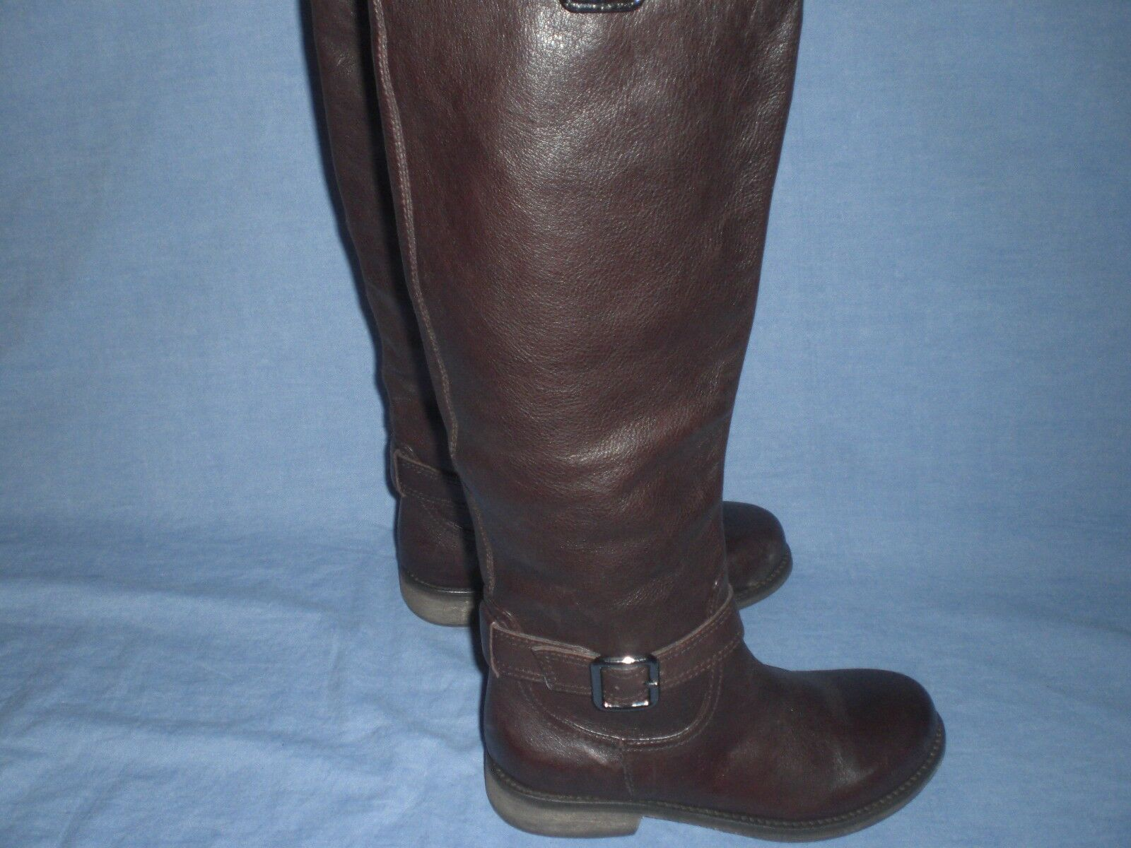 Kenneth Cole Reaction Genuine Leather Brown  Riding Boots  6.5 M