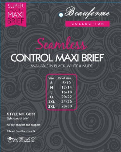 3XL S SEAMLESS SEAMFREE LIGHT CONTROL SMOOTH BRIEFS KNICKERS BRIEFS SUREFIT