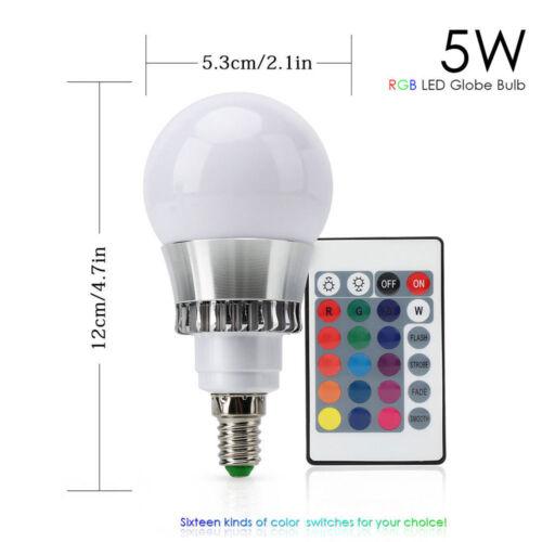 RGB 16 Colour Changing Remote Control LED Light Bulb Magic Lamp E27 B22 E14 UK