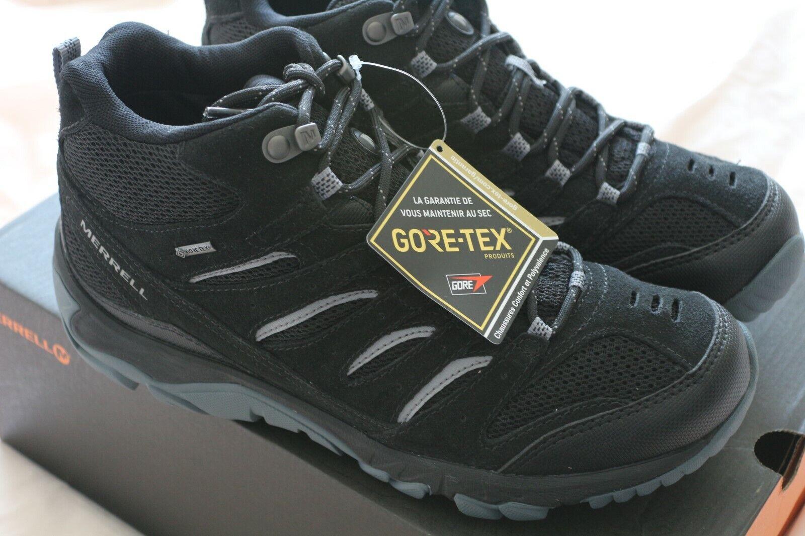 MERRELL PINE MID VENT GTX GORE-TEX HIKING TREKKING Stiefel UK 8 (US 8.5, EU 42)