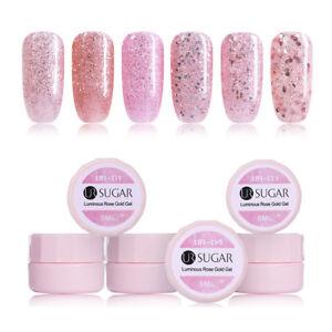 5ml-UR-SUGAR-Nagel-Gellack-Leuchtend-Rosegold-Soak-off-Nail-Art-UV-Gel-Polish