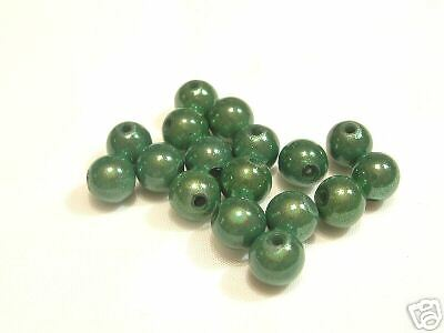BNILL37 Emerald 15 pcs x 10mm Acrylic Illusion Beads