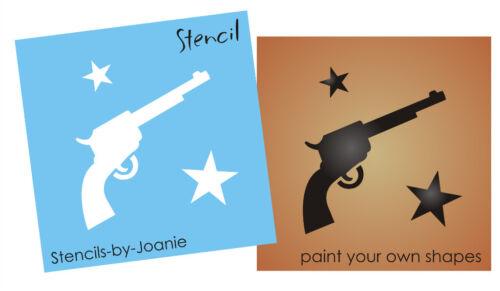 Pistol Gun Stencil Country Western Six Shooter Barn Star Cowboy Art Sign U Paint