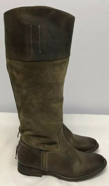 N.D.C. Sz 37/7 Made By Hand Brown Gerda Suede Leather Riding Boots Pull On