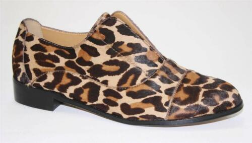 Women/'s Shoes Cynthia Rowley PREP Slip On Flats Loafer Leopard Haircalf