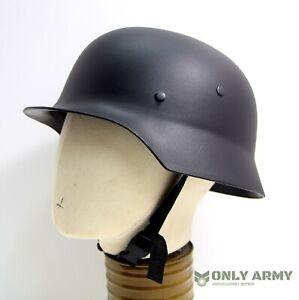 Repro-German-Army-WW2-Plastic-Helmet-M40-M42-Black-WWII-Paratrooper-Helmet