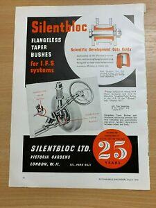 1954-Silentbloc-London-sans-Lanieres-Conique-Buissons-Vintage-Annonce