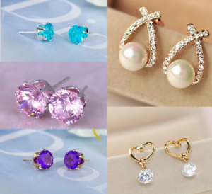 Elegant-earrings-silver-gold-plated-austrian-crystal-pearl-cubic-zirconia-box