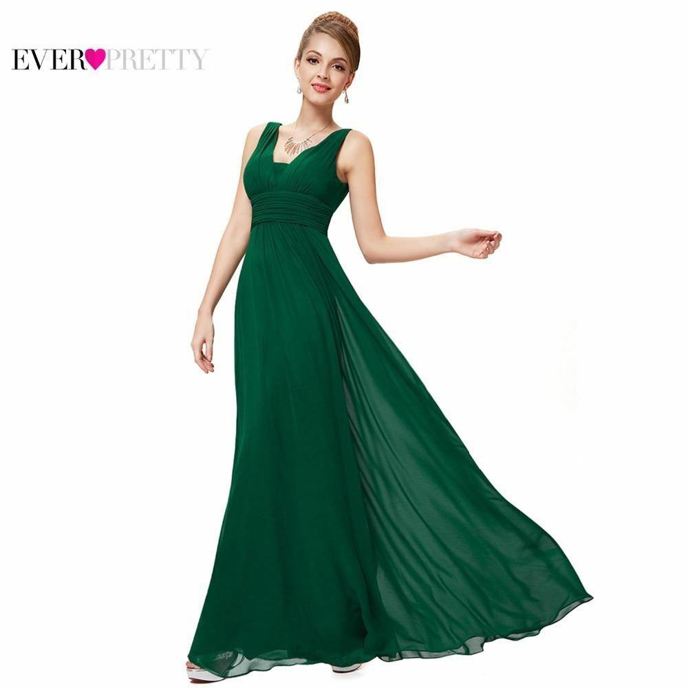 Formal Evening Dresses Ever Pretty EP08110 2017 Elegant schwarz Deep V-neck Ruched
