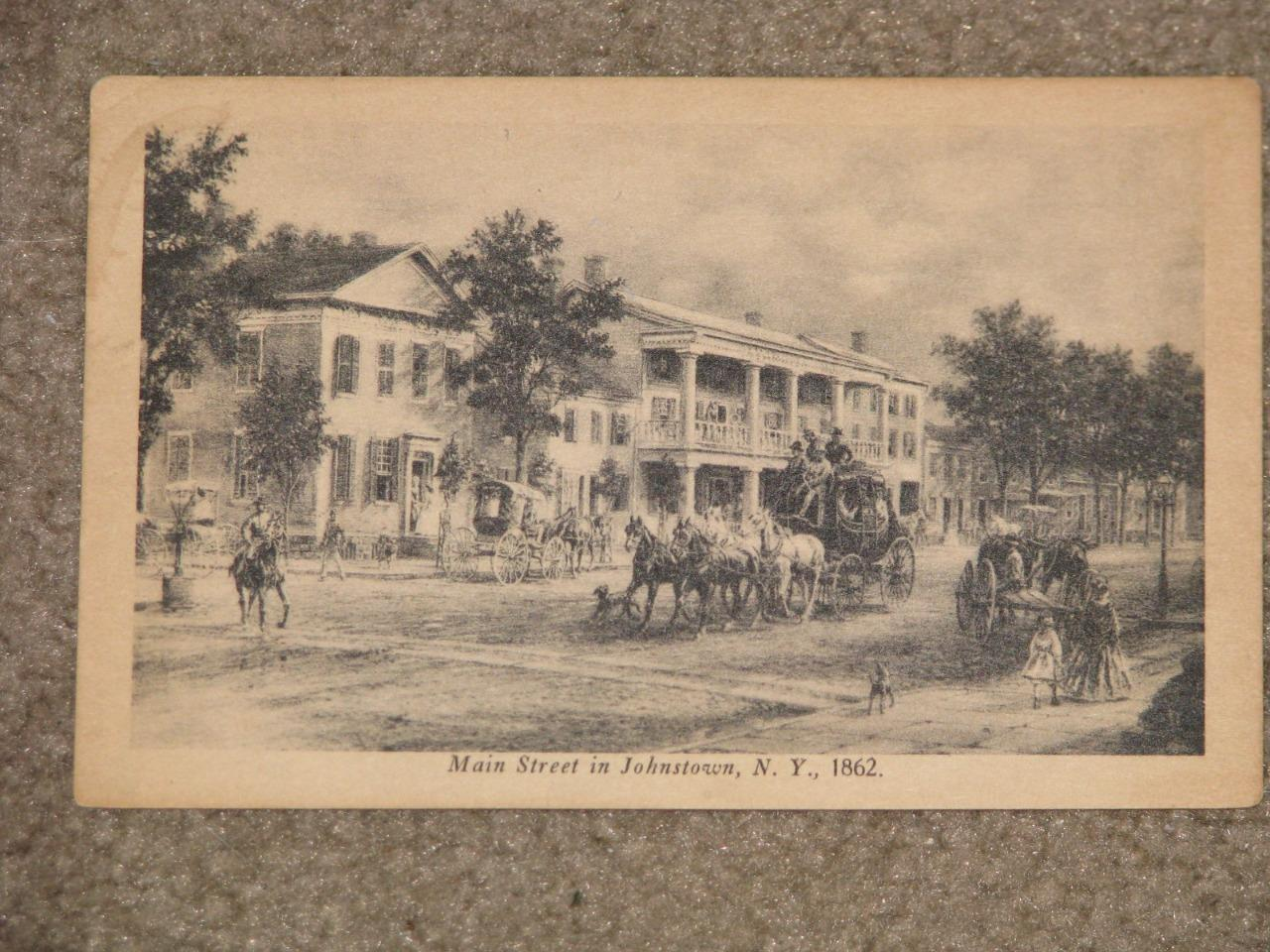 Main St. in Johnstown, N.Y., 1862, unused-vintage card, Publ. by Smith & Lathers