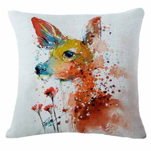 Art Animal Car Decor Pillows Pillowslip Throw Pillow Case Cushion Pillow Cover