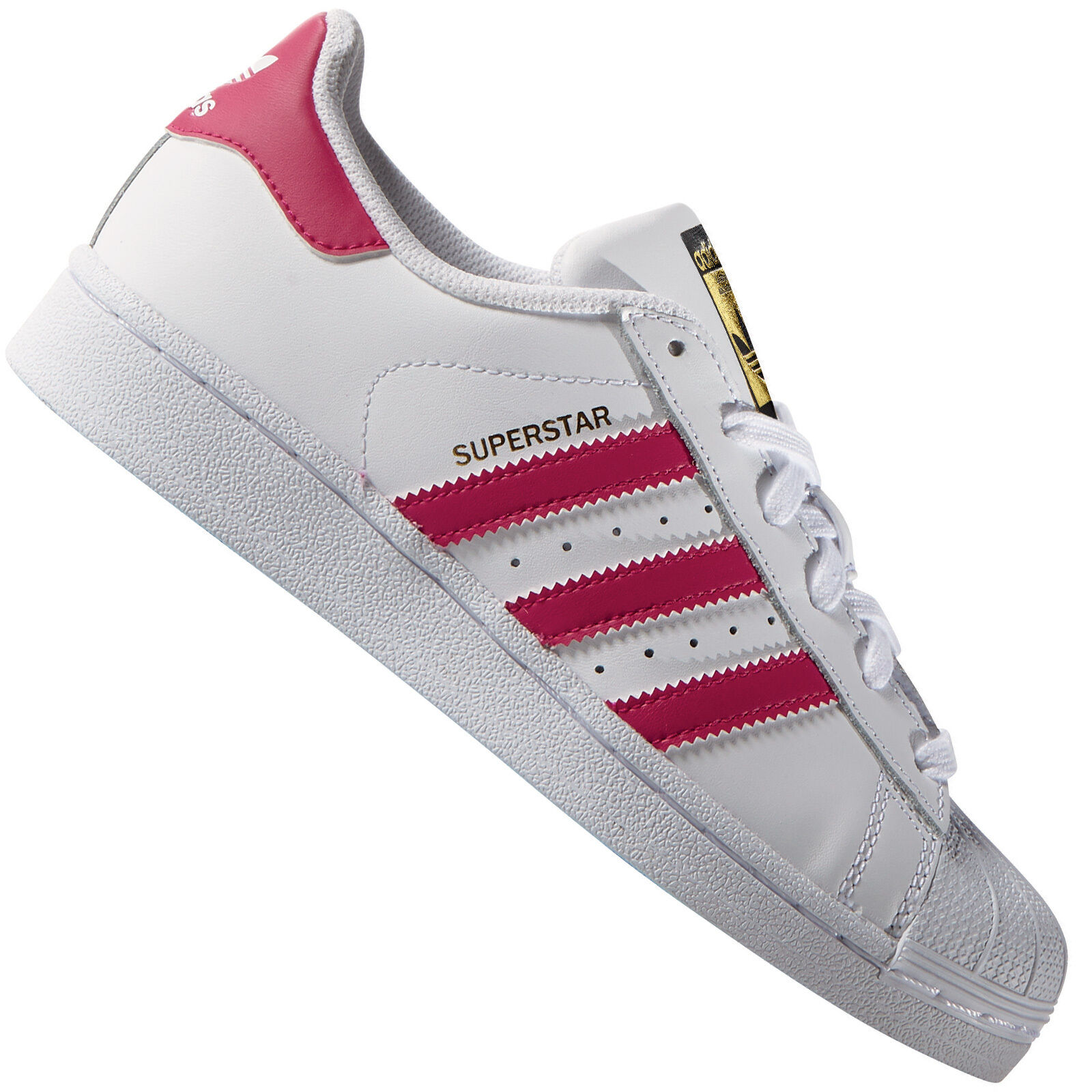 Adidas Originals Superstar Foundation White Pink B23644 Women's Sneakers shoes