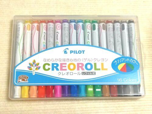 Brilliant Metallic Glitter Pastel Pilot Creoroll Crayon Color Set 5 Variation