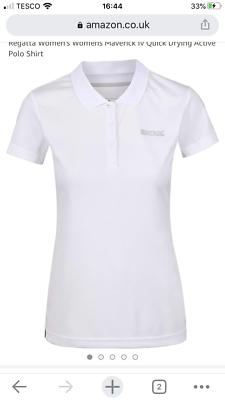 Ladies t/shirt size 16 regatta white polo shirts £6.99 rrp £22.59 on amazon | eBay