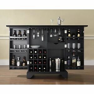 Details About Expandable Wine Storage Folding Bar Cabinet Home Living Dining Room Furniture
