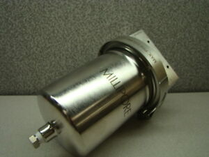 """MILLIPORE STAINLESS STEEL FILTER HOUSING 13/"""" X 3-1//2/"""" WITH 3//4/"""" NPT PORT"""