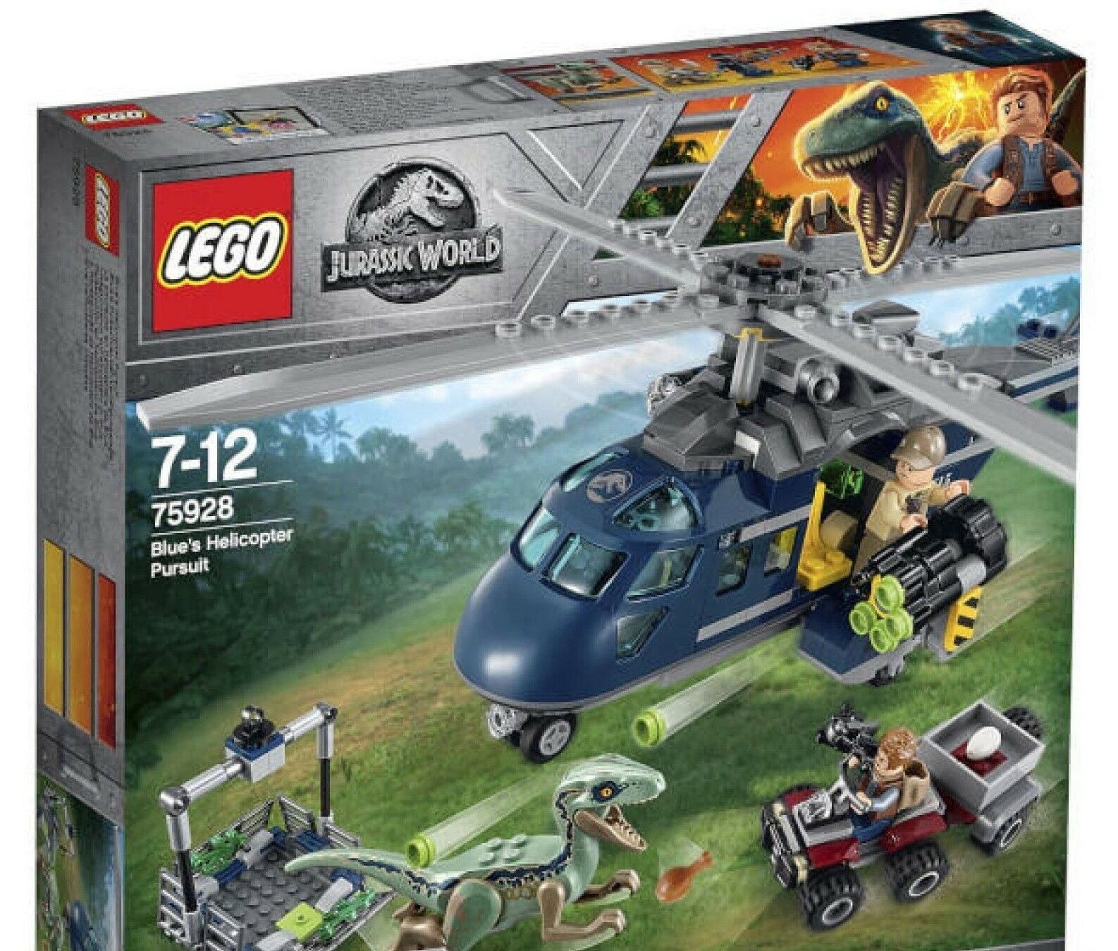 LEGO 75928 Jurassic World bluee\'s Helicopter Pursuit Brand New