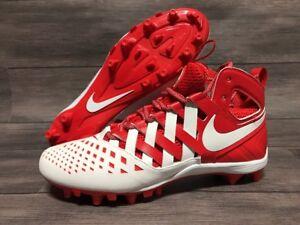 9a2d100dc Nike Huarache V 5 Lacrosse Cleats Mid Men s White Red Lax 807142 611 ...
