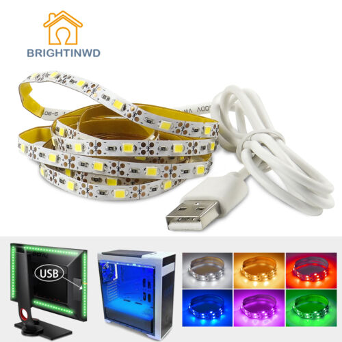 LED TV Backlight Strip USB Powered 50CM 1M 2M 3M Multi Color 5V Strip Lighting