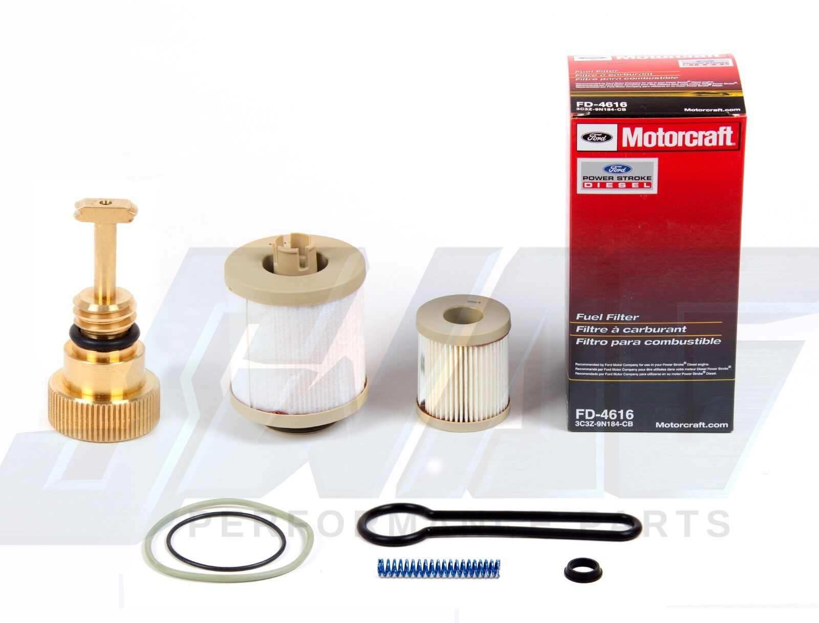 03-07 6.0L Powerstroke Diesel Motorcraft Fuel Filter Drain Plug Blue Spring  Kit