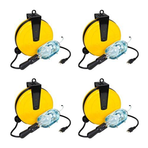 Case of 4  Incandescent Retractable Shop Reel Trouble Work Light 5000A-30G