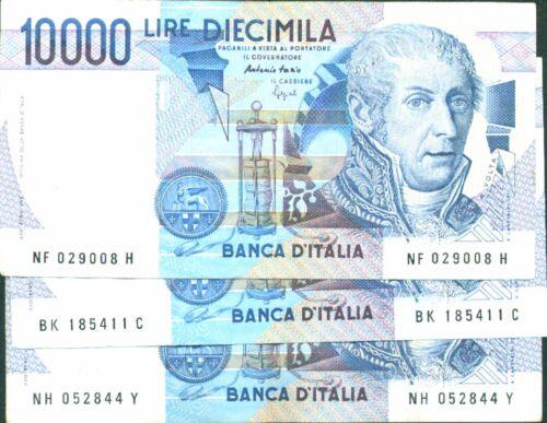 ITALY-ITALIA LOT 3x 10 000 LIRA VOLTA P 112. F-VF CONDITION