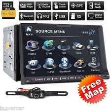 """7"""" GPS Navi Android 6.0 Double 2Din Car Auto Stereo DVD Player TV WiFi 3G BT"""