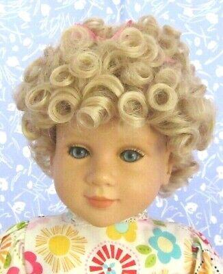 Kemper TRACY Pale Blond Full Cap Doll Wig Sz 14-15 Short Wavy Boy or Girl