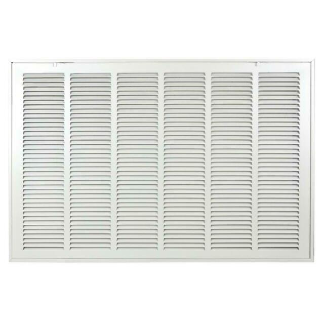 Steel Powder Coated White Finish x 25 in Return Air Filter Grille 20 in